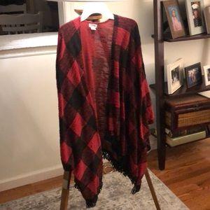 Buffalo check cape